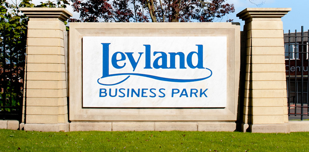 LEYLAND BUSINESS PARK SIGN